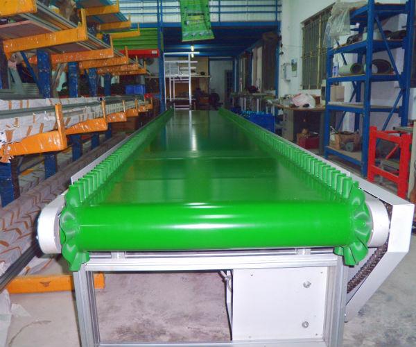 cấu tạo mặt băng chuyền cao su gân xanh chịu nhiệt và giá trị sử dụng